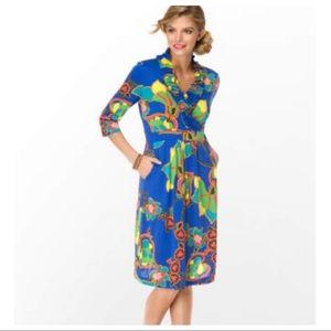 Lilly Pulitzer Blayney Ruffle Dress Starry Blue